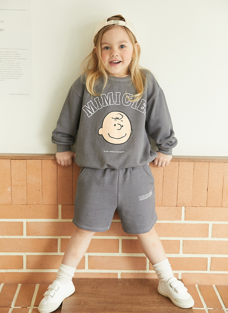 peanuts mtm short pants set (챠콜)